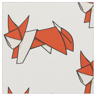 Origami Textured Patterned Fox Fabric