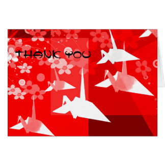 Origami Thank You Card