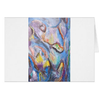 Origin of Species (abstract expressionism) Greeting Card