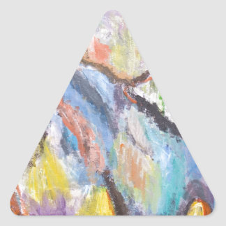 Origin of Species (abstract expressionism) Triangle Sticker