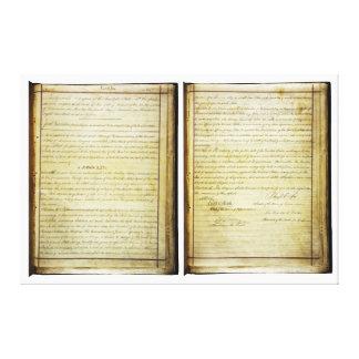 ORIGINAL 14th Amendment U.S. Constitution Canvas Prints