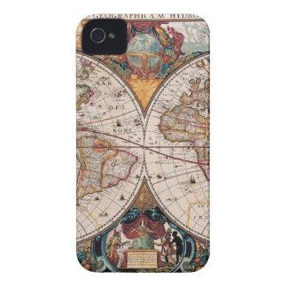 Original 17th Century World-Map latin 1600s Case-Mate iPhone 4 Cases