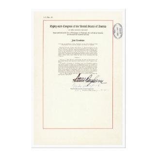 ORIGINAL 23rd Amendment U.S. Constitution Canvas Print