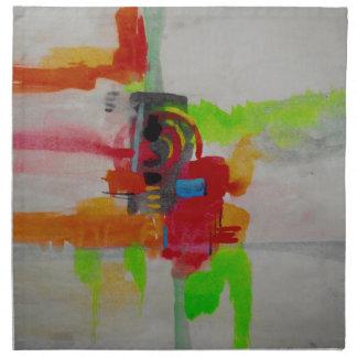 Original Abstract Artwork Napkin