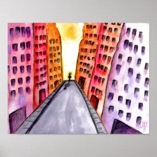 Original abstract design bright color poster
