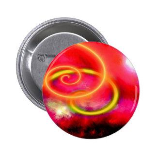 Original Abstract Digital Art 6 Cm Round Badge