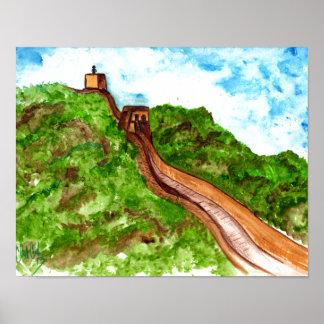 original abstract great wall of china poster