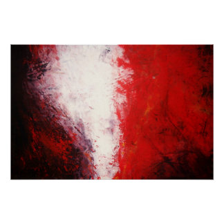 Original Abstract Painting Print Red Tones Modern
