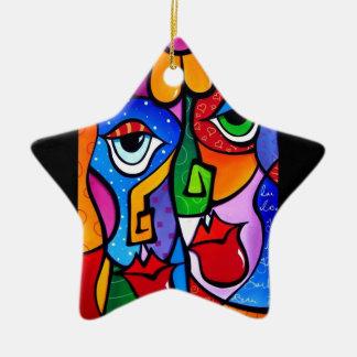 Original-Abstract-Pop-Art-Satisfactio Ceramic Star Decoration
