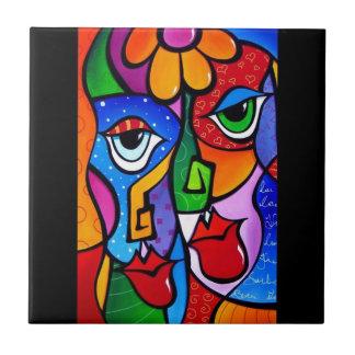 Original-Abstract-Pop-Art-Satisfactio Ceramic Tile
