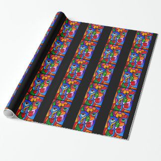 Original-Abstract-Pop-Art-Satisfactio Wrapping Paper