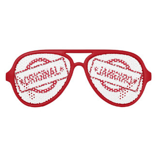 original Adult Aviator Party Shades, Red