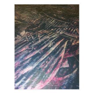 original alien landscape techno artist view postcard