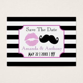 Original and casual save the date business card