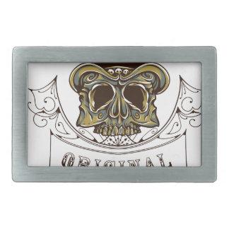 original apparel scary skull belt buckle