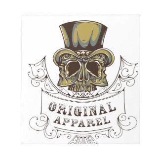 original apparel scary skull notepad