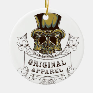 original apparel scary skull round ceramic decoration