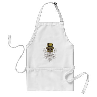 original apparel scary skull standard apron