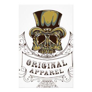 original apparel scary skull stationery