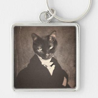 Original Art Black Cat Keychain