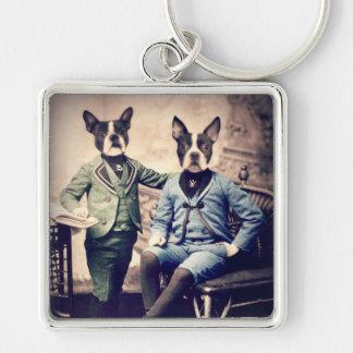 Original Art Boston Terrier Keychains
