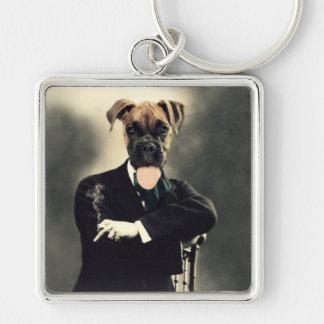 Original Art Boxer Dog Keychain