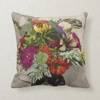 Original Art Flower Accent Pillow