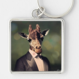 Original Art Giraffe Keychain