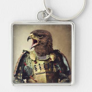 Original Art Hawk Keychain