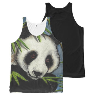Original Art Panda Bear Tank Top