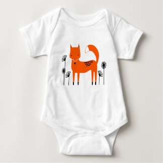 """Original art work"" country wild fox Baby Bodysuit"
