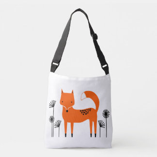"""Original art work"" Fred the Fox Crossbody Bag"