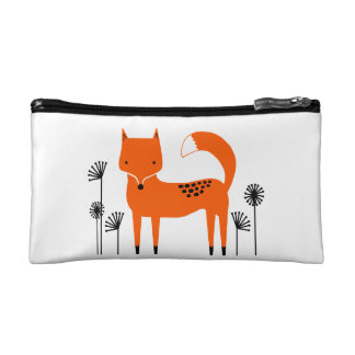 """Original art work"" Fred the Fox Makeup Bag"
