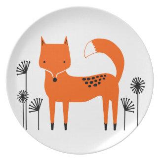 """Original art work"" Fred the Fox Plate"