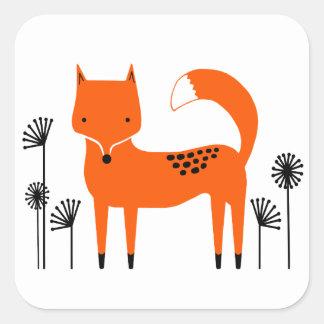 """Original art work"" Fred the Fox Square Sticker"