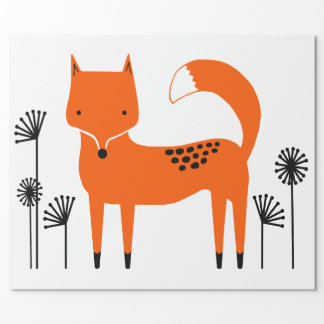 """""""Original art work"""" Fred the Fox Wrapping Paper"""