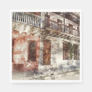 Original artwork of of Cartagen Colombia Disposable Serviettes