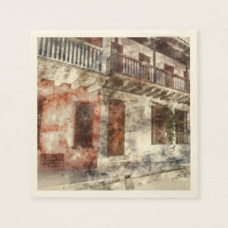 Original artwork of of Cartagen Colombia Paper Napkin