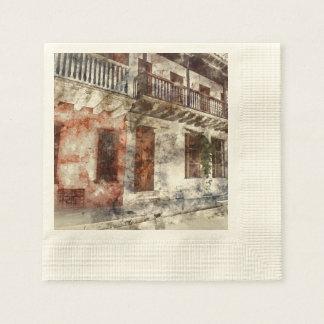 Original artwork of of Cartagen Colombia Paper Serviettes