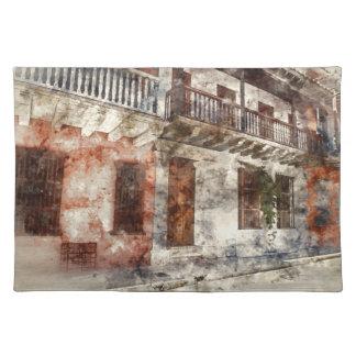 Original artwork of of Cartagen Colombia Placemat