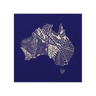 Original Australia Map Art - Choose Your Colour