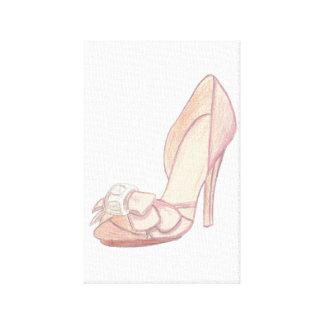 Original Badgley Mischka Shoe Illustration Canvas Print