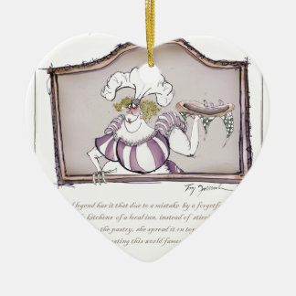 Original Bakewell Pudding, tony fernandes.tif Ceramic Heart Decoration