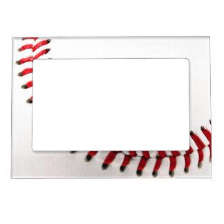 Original baseball ball magnetic picture frame