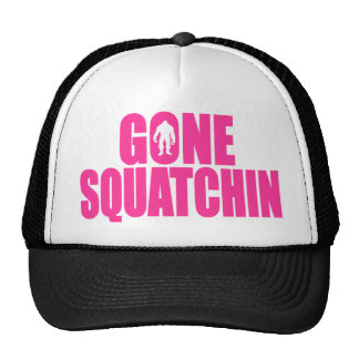 Original & Best-Selling Bobo's GONE SQUATCHIN Pink Trucker Hats