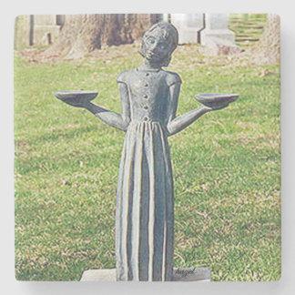 ORIGINAL Bird Girl In Cemetery Savannah Ga.Coaster Stone Coaster