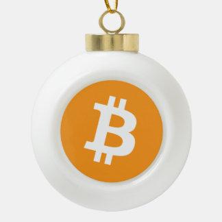 Original Bitcoin Logo Floral Christmas Ornament