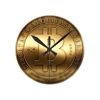 Original Bitcoin Logo Symbol Medium Wall Clock