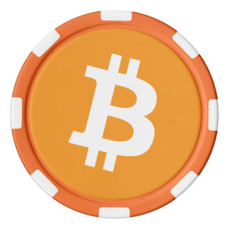Original Bitcoin Logo Symbol Orange Poker Chips