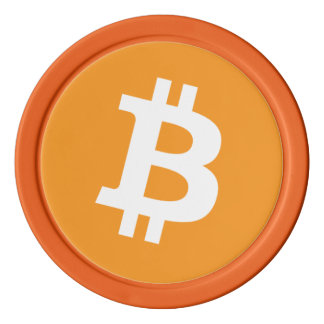 Original Bitcoin Symbol Logo Orange Poker Chips